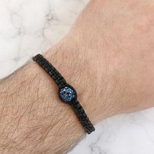 Other - Blue Crystal Macrame Bracelet